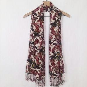 Chico's paisley multi color rayon scarf